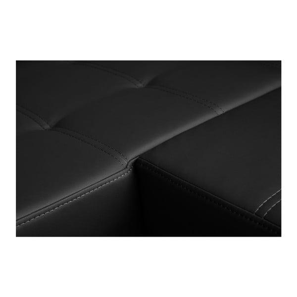 Černá rozkládací pohovka Florenzzi Fioravanti s lenoškou na levé straně