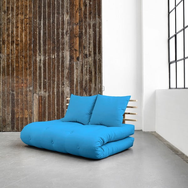 Canapea extensibilă Karup Shin Sano Natur/Horizon Blue