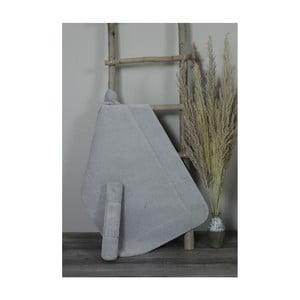Sada 2 světle šedých bavlněných koupelnových předložek My Home Plus Relax