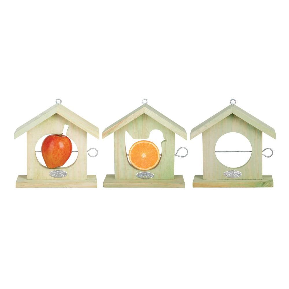 Sada 3 krmítek pro ptáčky na upevnění jablka Esschert Design, výška20,2cm