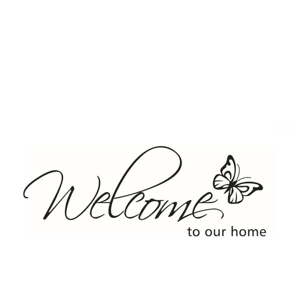 Dekorativní samolepka Our Home, 26x71 cm
