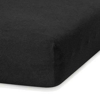 Cearceaf elastic AmeliaHome Ruby, 200 x 160-180 cm, negru de la AmeliaHome