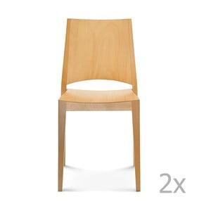 Set 2 scaune de lemn Fameg Ditte