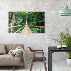 Obraz na plátně OrangeWallz Bridge in Jungle, 70 x 118 cm
