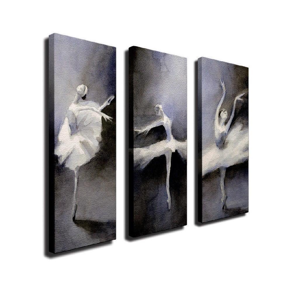 3dílný nástěnný obraz na plátně Ballet