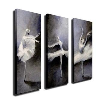 Tablou pe pânză din 3 piese Ballet de la Unknown