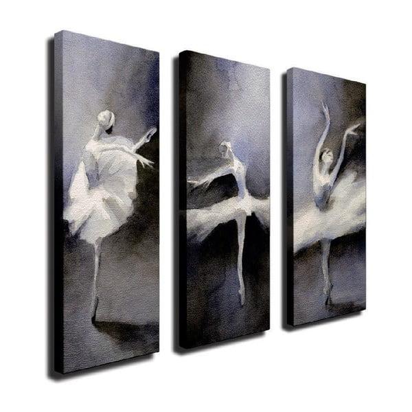 Tablou pe pânză din 3 piese Ballet