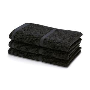Černý ručník Aquanova Adagio,30x50cm