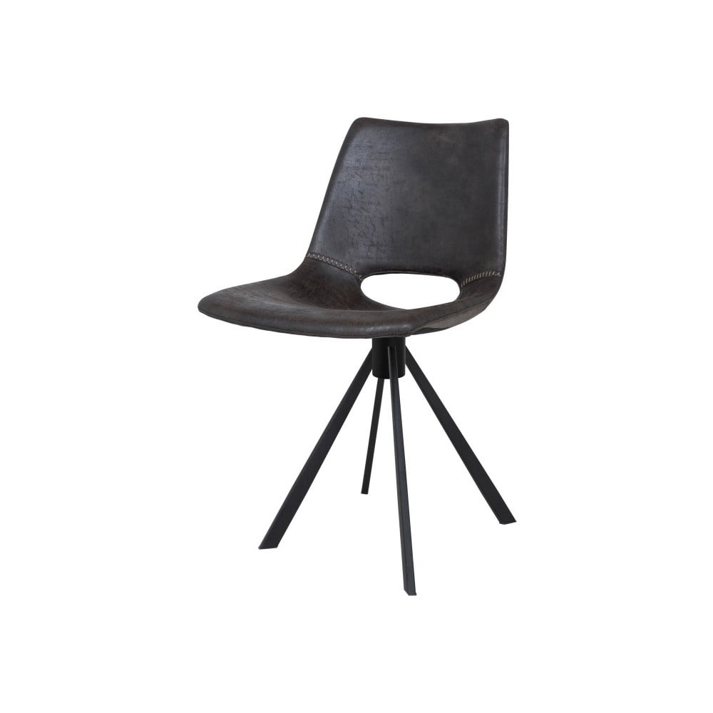 Tmavě šedá jídelní židle Canett Coronas
