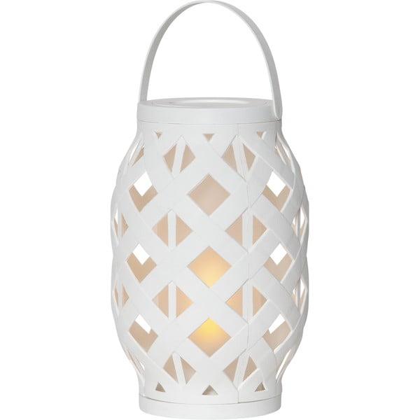 Felinar Best Season Flame Lantern, 15 x 23 cm, alb