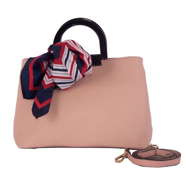 Růžová kabelka z pravé kůže Andrea Cardone Angelo