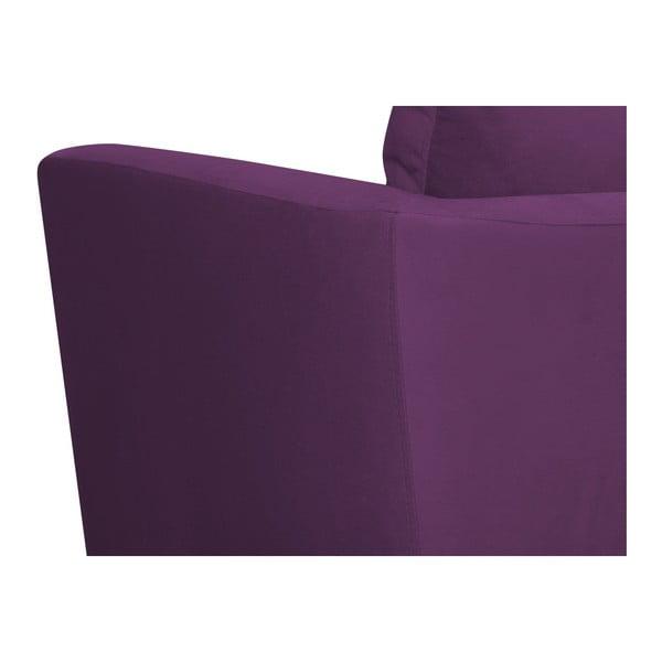 Fialové křeslo Mazzini Sofas Cotton