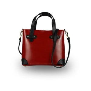 Červená kabelka z pravé kůže JOHN FISH Fun