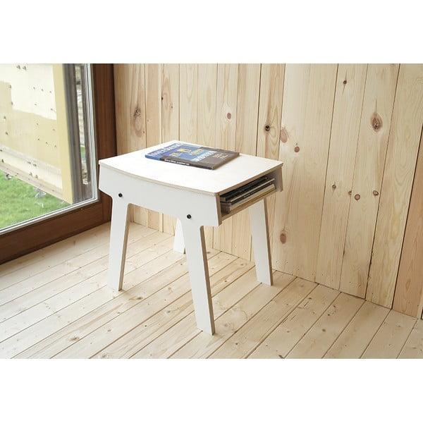 Černá stolička/stolek s úložným prostorem rform Pi
