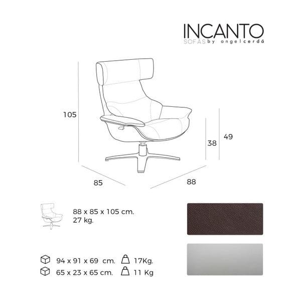 Sklápěcí kožené křeslo s relaxačním mechanismem Ángel Cerdá Terapeut