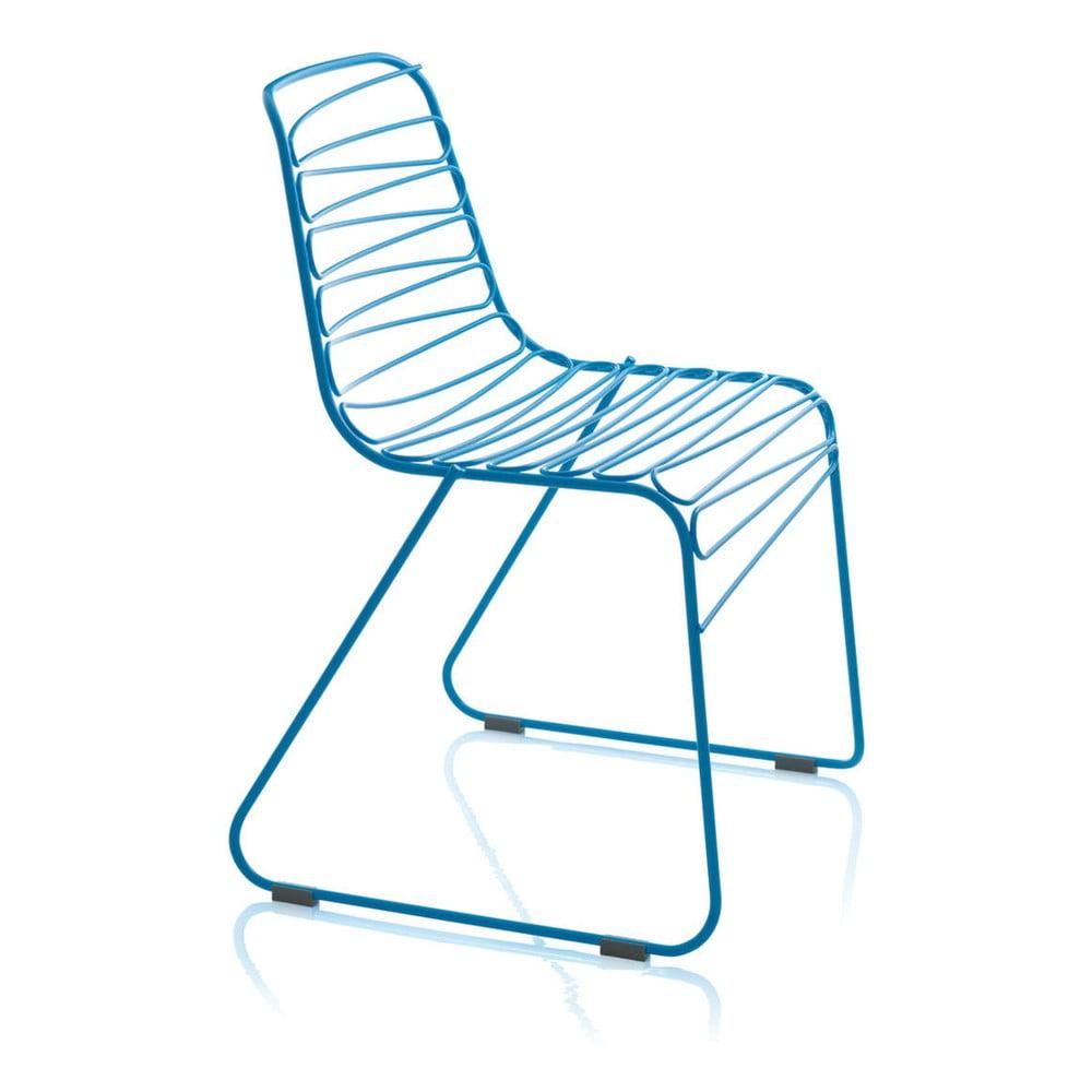 Modrá jídelní židle Magis Flux