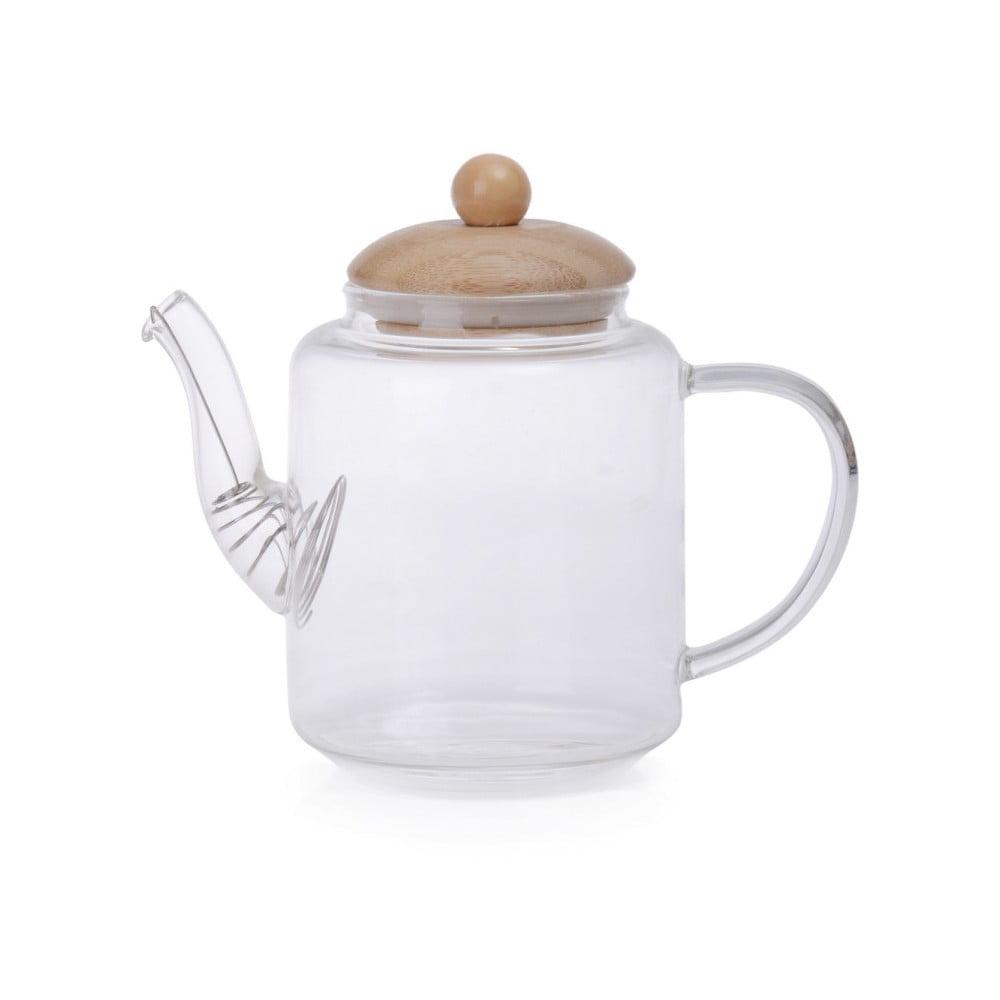 Skleněná konvice na čaj s bambusovým víkem Georgios