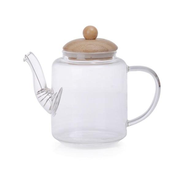 Ceainic din sticlă cu capac din bambus Georgios
