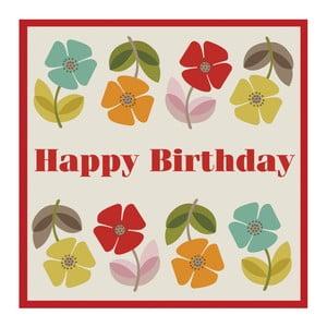Felicitare aniversară cu plic Rex London Poppy