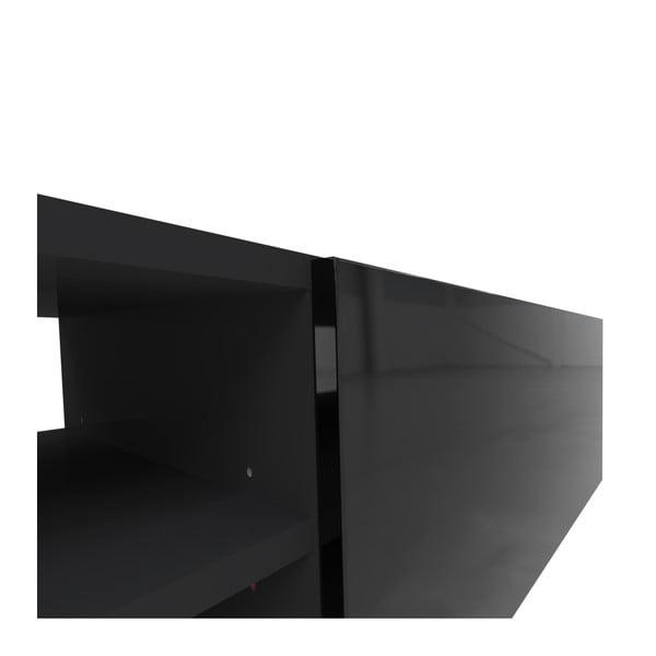 Černý televizní stolek Symbiosis Podium, šířka185cm