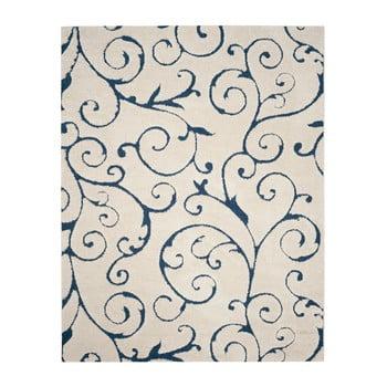 Covor Safavieh Chester, 228 x 160 cm, crem - albastru imagine