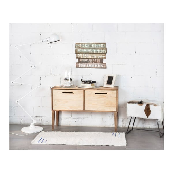 Dřevěná nástěnná dekorace Really Nice Things Seatle, 50 x 40 cm