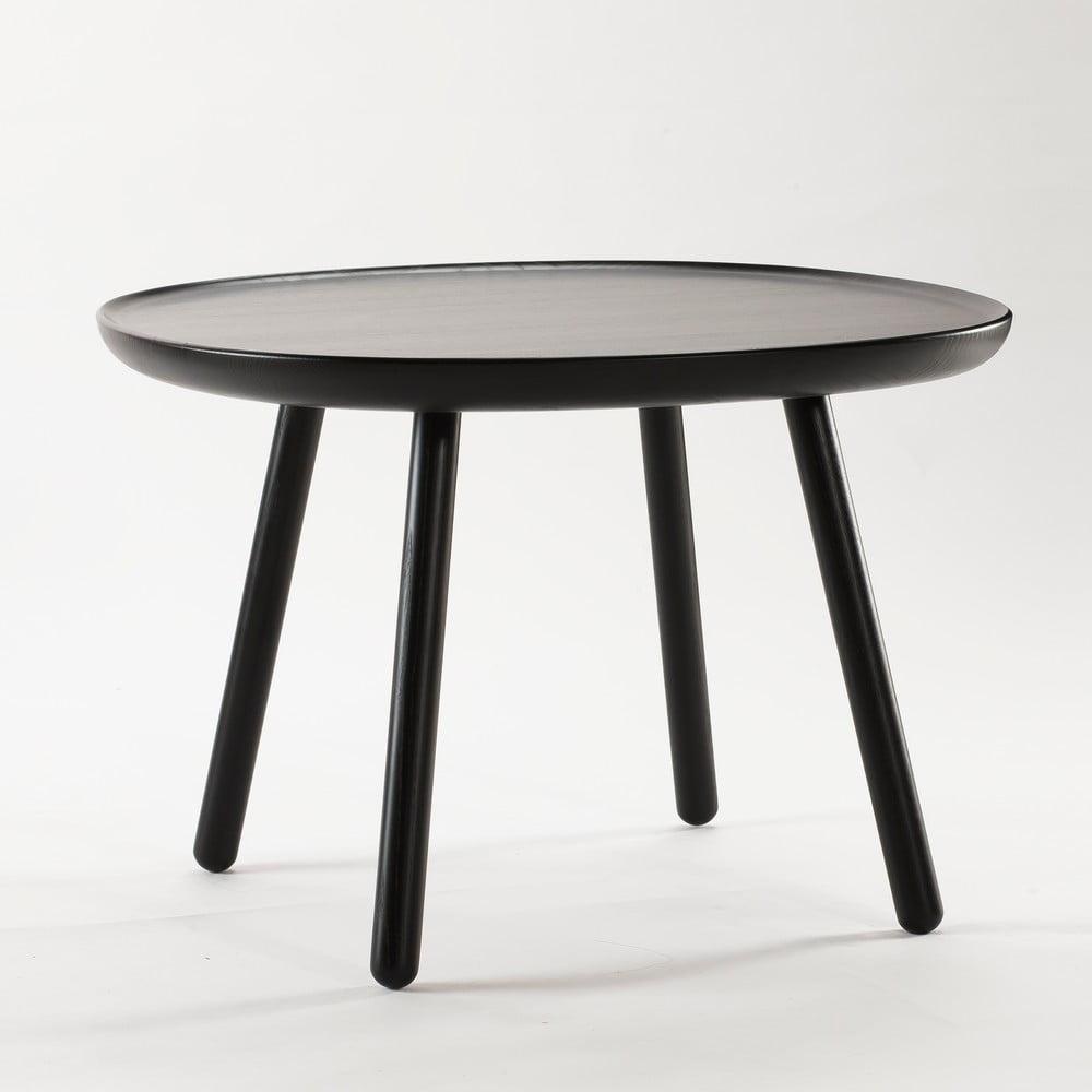 Černý odkládací stolek z masivu EMKO Naïve Large