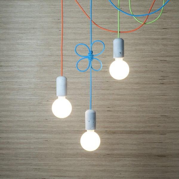 Svítidlo od Jakuba Velínského - hnědé vlákno, 1,2 m