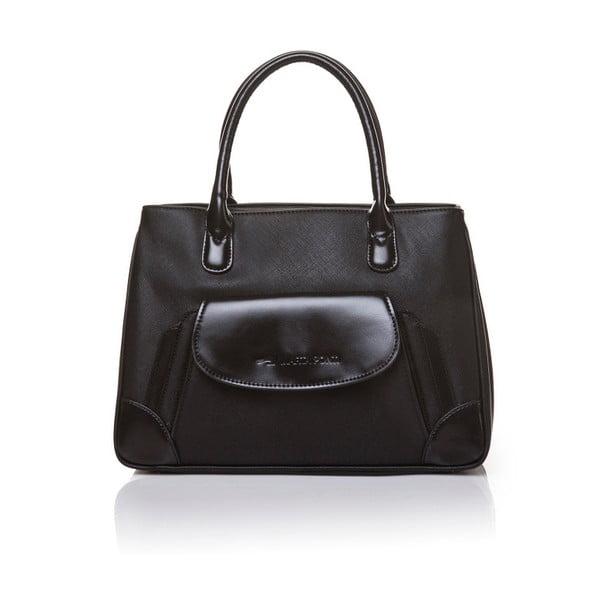 Kožená kabelka do ruky Marta Ponti Pocket, černá