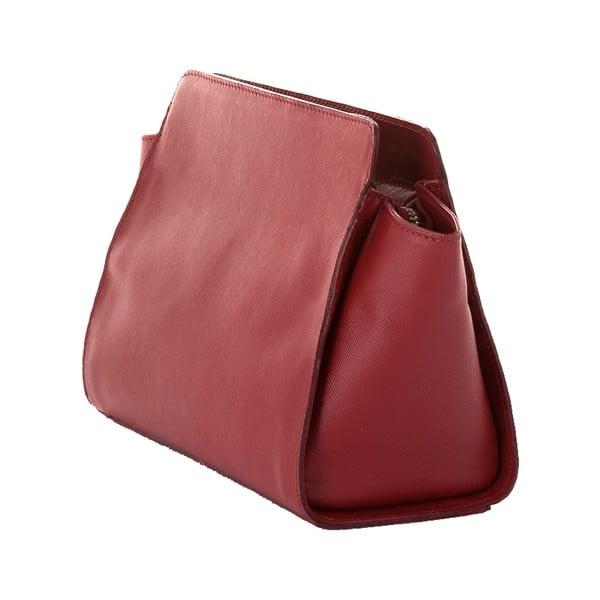 Rubínově červená kožená kabelka Andrea Cardone 1008