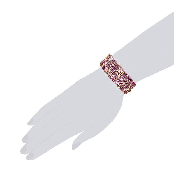 Náramek Pink Shine, 42 cm