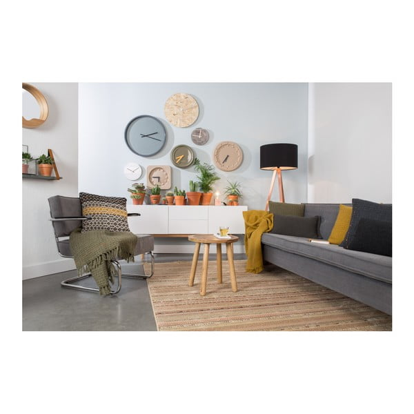Šedý polštář s výplní Zuiver Mimosa, 45x45cm