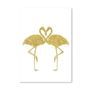 Poster Americanflat Flamingos Couple, 30 x 42 cm