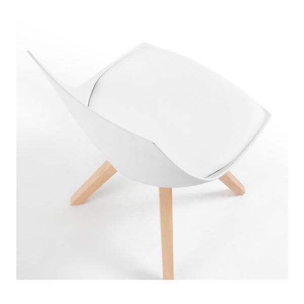 Sada 4 bílých židlí La Forma Armony
