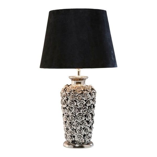 Stolová lampa v striebornej farbe Kare Design Rose