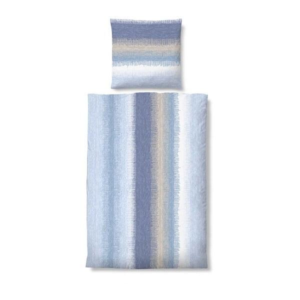 Povlečení Biber Komfort Stripe Blue, 155x200 cm