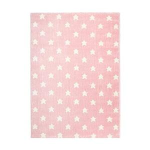 Růžový dětský koberec Happy Rugs Stardust, 80x150cm