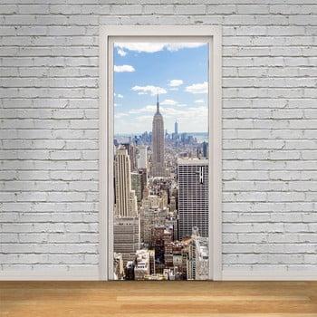 Autocolant pentru ușă Ambiance New York View, 83 x 204 cm de la Ambiance