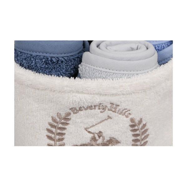 Sada 4 ručníků na ruce v látkovém košíčku Polo Club Cecilia
