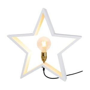 Bílá dřevěná svítící hvězda Best Season Lysekil