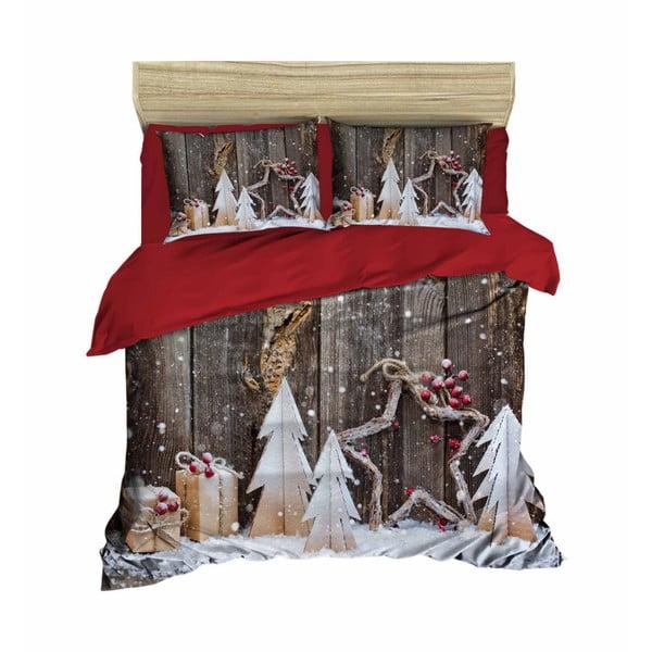 Lorenzo karácsonyi, kétszemélyes ágyneműhuzat lepedővel, 160 x 220 cm