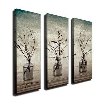 Tablou pe pânză din 3 piese Vases de la Unknown