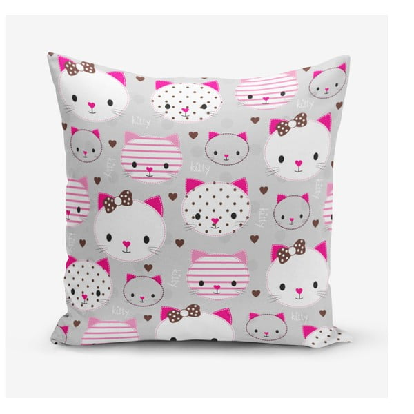 Față de pernă Minimalist Cushion Covers Kittty, 45 x 45 cm