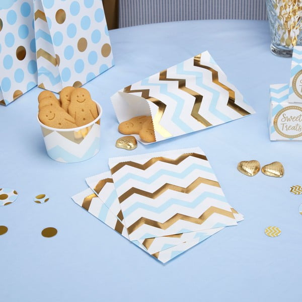 Sada 25 modrých sáčků na sladkosti Neviti Pattern Works Zig