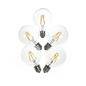 Sada 5 LED žárovek Bulb Attack POP Crown, E27 4 W