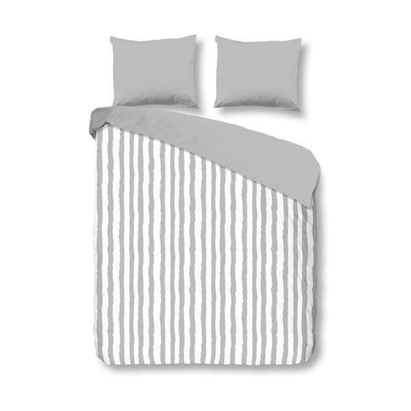 Povlečení Stripes 200x200 cm, šedé