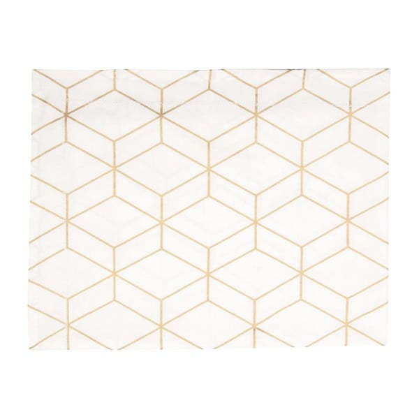 Ubrus Hexagon White, 140x220 cm
