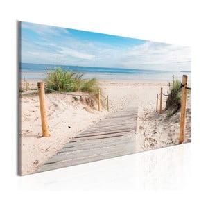 Obraz na plátně Artgeist Charming Beach, 150x50cm