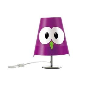 Fialová dětská lampička e-my Lucignolo