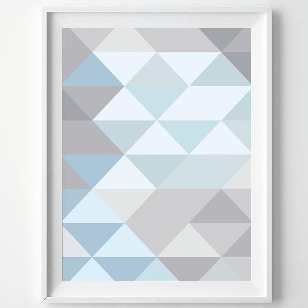 Plakát Monochrome Blue, A3